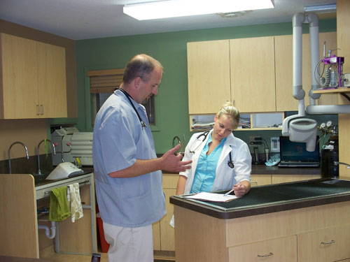 Dr. Brown and Dr. Starkey discuss a hospitalized case